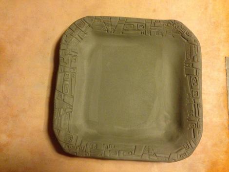 Leather hard Platter