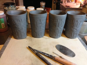 This week in the pottery studio