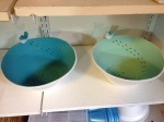 Pottery bowls in progress