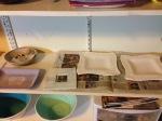 Plates drying in studio