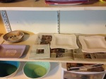 Plates drying in studio