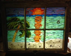 Coconut Palm Beach Scene - SOLD