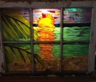 Beach Scene Window - SOLD